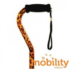 Alex Orthopedics - 10922 - Offset Handle Cane, Leopard