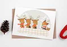 Warmest Wishes 10 Greeting Cards от whimsywhimsical на Etsy