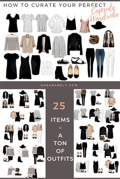 Build A Capsule Wardrobe - Curate Your Capsule Wardrobe 2017 - Capsule Wardrobe Minimalist Women - Work - Workbook - Free Printables- Free EBook - Minimalism Organization Declutter | www.beautyiscrueltyfree.com