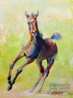 "Daily Paintworks - ""Frolic"" - Original Fine Art for Sale - © Kimberly Santini"