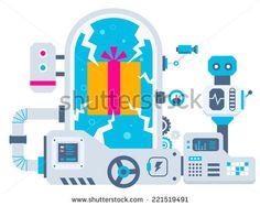 factory flat design - Pesquisa Google Maker Fun Factory Vbs, Wordpress Website Design, Funny Dating Quotes, Photoshop Design, Wordpress Plugins, Flat Design, Banner, Stock Photos, Illustration