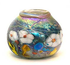 Art glass vases, cremation urns, keepsake urns, pet urns