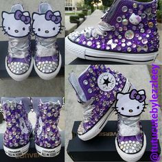 Purple Hello Kitty Converse Colors Can Be Changed by TuTuCutee