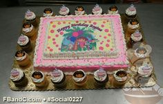 Dora the Explorer Birthday Cake with Cupcakes and Character picks