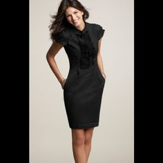 HP Ann Taylor Little Black Dress This beautiful dress was worn once and is in perfect condition! Ann Taylor Dresses