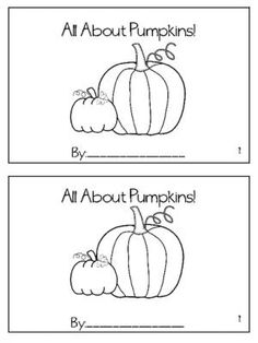 All About Pumpkins Book freebie from Sliding into First on TeachersNotebook.com -  (6 pages)  - pumpkin, life cycle