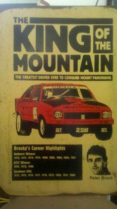 PETER BROCK Australian Muscle Cars, Aussie Muscle Cars, Australian Vintage, Australian Homes, Holden Muscle Cars, Mount Panorama, Holden Torana, The Great Race, V8 Supercars