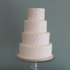 Whipped Bakeshop Philadelphia: Bark Textured Wedding Cake | Whipped Bakeshop