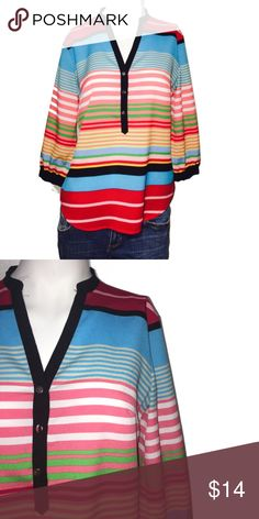 NY&C stripe casual top New York and Company size small excellent condition 100% polyester New York & Company Tops