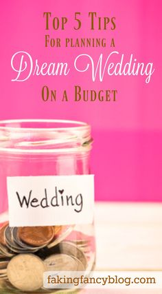 Top five tips for saving thousands on your dream wedding. I show you how I saved money on everything from my make-up, guest book, reception food and more!