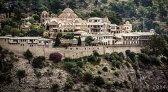 Monastery of Archangel Michael Greece Islands, Crete Greece, Archangel Michael, Macedonia, Beautiful Places, Saints, Mansions, House Styles, Beach