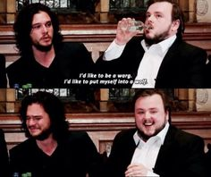 "Question: ""If you could be any character in Game of Thrones, who would you choose to be?"" Kit Harington:"