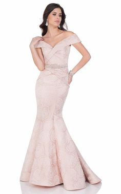 064a7e2b6f56 Terani 1622M1785 Dress - NewYorkDress.com Off Shoulder Evening Dress, Off  Shoulder Gown,