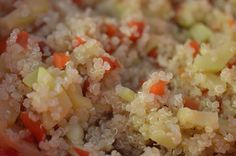 Receta BLW - Quinoa con verduras al vapor. Muy fácil y rápido de hacer.
