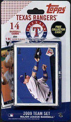 Topps MLB Baseball Cards 2009 Texas Rangers 14 Card Team Set  https://allstarsportsfan.com/product/topps-mlb-baseball-cards-2009-texas-rangers-14-card-team-set/  2009 Topps® Team Set 14 Licensed trading cards Top stars and other fan favorites