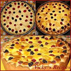 Tartă rapidă cu fructe (piersici) | Vicky's Recipes Romanian Food, Sweets Recipes, Apple Pie, Bakery, Cheesecake, Food And Drink, Yummy Food, Favorite Recipes, Candy