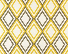 This is a yellow and grey slub diamond print drapery fabric by Premier Prints. This cute diamond print is perfect for any home decorating project. Suitable for draperies, bedding, headboards, decorative pillows, or light weight