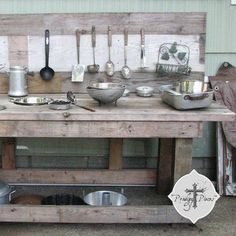 DIY {Reclaimed Wood} Backyard Play Station!
