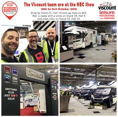 Viscount Leisure at the Birmingham NEC and Show Birmingham Nec, Viscount, Caravans, Happy Campers, Say Hello, Motorhome, Camping, Events, Campsite