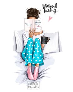 Fashion, even in pajamas. In weekend mode La mode, même en pyjama. En mode week-end - Unique Wallpaper Quotes Illustration Inspiration, Art Inspiration Drawing, Illustration Mode, Coffee Illustration, Inspiration Quotes, Anastasia, Fashion Sketches, Art Sketches, Fashion Illustrations