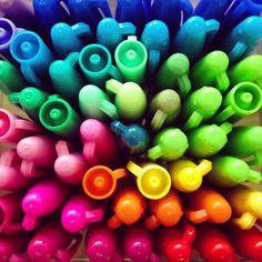 sharpie markers rainbow