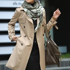 H&M trench coat Fitted trenchcoat in woven fabric with imitation leather trim. Side pockets, front buttons, back vent, and removable tie belt at waist. Machine wash cold H&M Jackets & Coats Trench Coats Trench Coat Outfit, Winter Trench Coat, Classic Trench Coat, Trench Coats, Women's Coats, Trench Jacket, Mode Outfits, Casual Outfits, Jackets