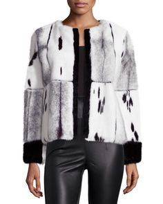 Oscar de la Renta Multi Mink Fur Jacket