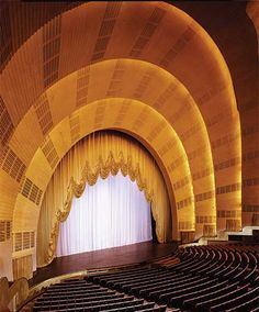 New book Interior Landmarks: Treasures of New York highlights the interior landmarks of NYC including Radio City Music Hall, City Hall Subway Station, and more. Theater Architecture, Theatrical Scenery, Places In New York, New Amsterdam, Radio City Music Hall, Hall Design, Scenic Design, Concert Hall, Architectural Digest