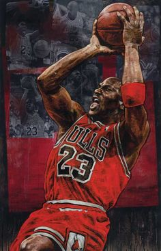 Michael Jordan Chicago Bulls by Stephen Holland Basketball Shorts Girls, Basketball Is Life, Basketball Legends, Sports Basketball, Sports Art, Basketball Players, Basketball Socks, Basketball Floor, Nba Players