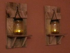 Items similar to Rustic Wood Candle Holder, Natural Wood Rustic Decor, sconce candle holder, Mason Jar candle, Candle holders priced 1 each on Etsy Mason Jar Candle Holders, Mason Jar Wall Sconce, Rustic Candle Holders, Candle Holders Wedding, Lantern Candle Holders, Mason Jar Candles, Candle Lanterns, Rustic Lanterns, Rustic Candles