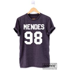 Mendes 98 Shirt T Shirt T-Shirt TShirt Tee Shirt Unisex Shawn Shirt... (115 VEF) ❤ liked on Polyvore featuring tops, t-shirts, unisex tops, purple t shirt, purple shirt, purple top and t shirts