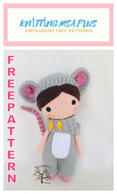 We bring you the latest recipes about amigurumi. In this article, amigurumi doll lily in mouse costume free crochet pattern is waiting for you. Double Crochet Decrease, Back Post Double Crochet, Crochet Amigurumi Free Patterns, Free Crochet, Crochet Disney, Knitted Animals, Amigurumi Doll, Mouse Costume, Crochet Projects