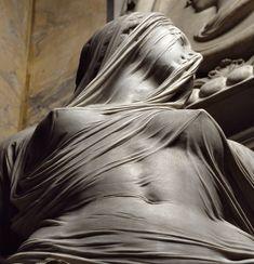 Antonio Corradini-Modesty carved in marble (1751)