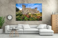 California Winery Print, Napa Valley Castle Photo, Castello di Amorosa Print, Wine Country, Napa Flower Canvas, Wine Vineyard, Gallery Wrap by SusanTaylorPhoto on Etsy