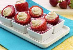 PB-rific Stuffed Strawberries Recipe   Hungry Girl