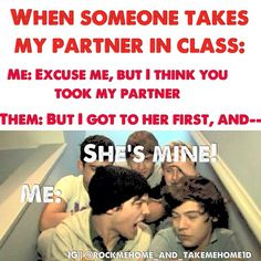 "Lou: ""I dont want to say mine yet"". Harry: ""I would have to say Mary."" Lou: ""Mary?.... she's mine."" Harry: ""yeah but remember we had that thing going on..."" Lou: ""SHE'S MINE!!!!!"" #did.that.from.memory. #true.directioner"