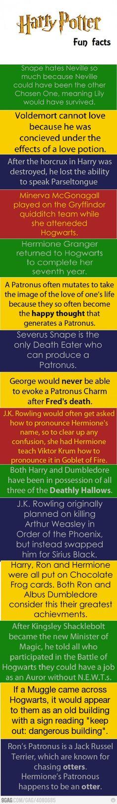 Harry Potter fun facts @Staci Spencer-Hoyt