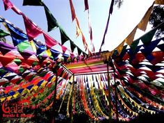 outdoor decor, outdoor decor with flags, colourful outdoor decor ideas, colourful decor ideas