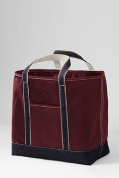 Extra Large Open Top Colored Canvas Tote Bag from Lands' End
