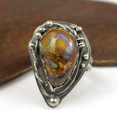 Ring | Laura Pacino.  Koroit Boulder Opal and silver.