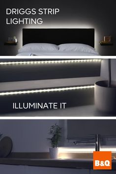 Illuminate it with our NEW Driggs Strip Lighting, you can add light to almost any area of your home. Accentuate mirrors, light up dark cupboards and drawers or even add an ethereal glow to your kitche