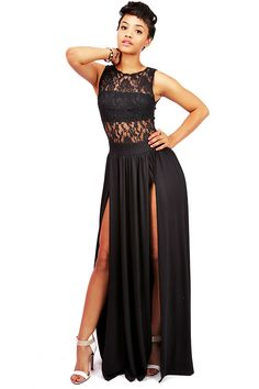 Empire Lace Maxi Dress   Sexy Maxi Dresses at Pink Ice