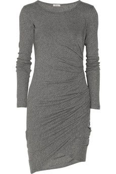 Ruched cotton-jersey dress, this would make for such a great anytime dress. change up accessories to go from day to night - across all seasons and great for travel! may need to invest in something like this