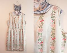 Champagne Grey Floral Brocade Embroidered Satin by TheOhAnaShop, $60.00