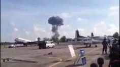 Jet crashes at a children's air