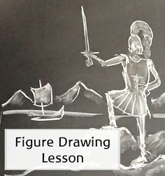 Simple steps to help you move yourself (and your students!) from stick-figures to figures that show movement and more closely resemble the human body.  Waldorf education | Waldorfish | homeschool art | Waldorf chalk drawing |