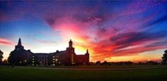 Sunset at #Baylor University