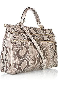 #RobertoCavalli Doctor Grande Diva python bag