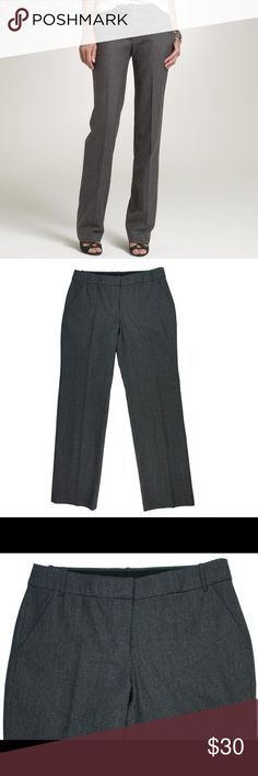 "JCREW Favorite Fit Gray Plaid Wool Trouser Pants Great condition! These gray plaid trouser pants from JCREW feature a zip tab closure and are fully lined. Made of a wool blend. Measures: waist: 31"", rise: 8"", hips: 40"", inseam: 30"" J. Crew Pants Trousers"