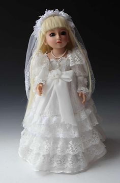 82.76$  Watch now - http://alibmu.worldwells.pw/go.php?t=32384375106 - 18 inches SD / BJD joint doll  white wedding dress clothes top quality wedding gift for friends wedding decoration toys lover